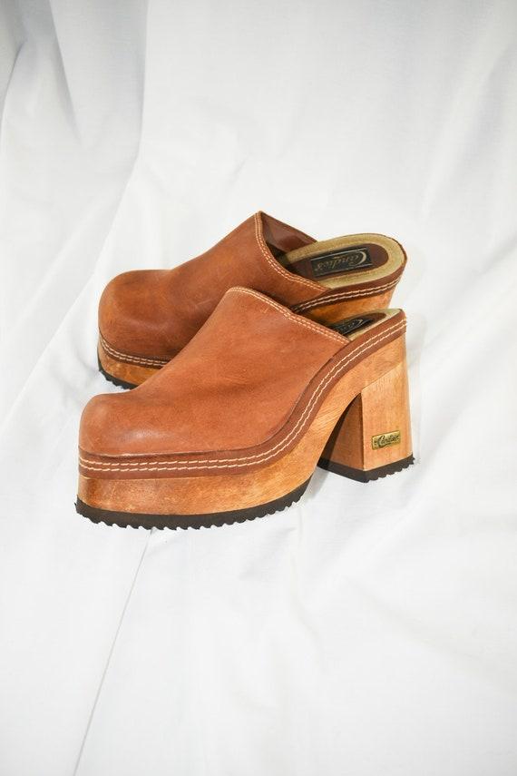 90's Candies Platform Chunky Mules / Block Heels … - image 6