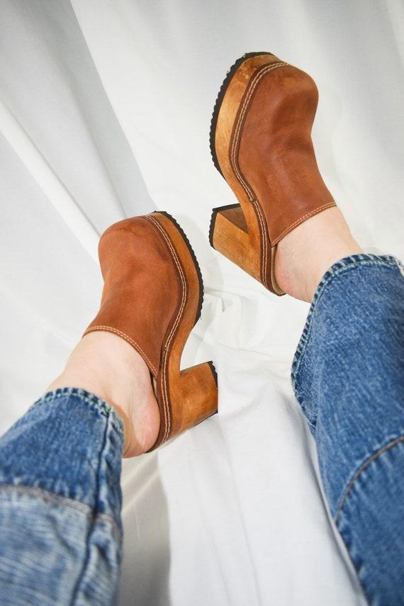 90's Candies Platform Chunky Mules / Block Heels … - image 3