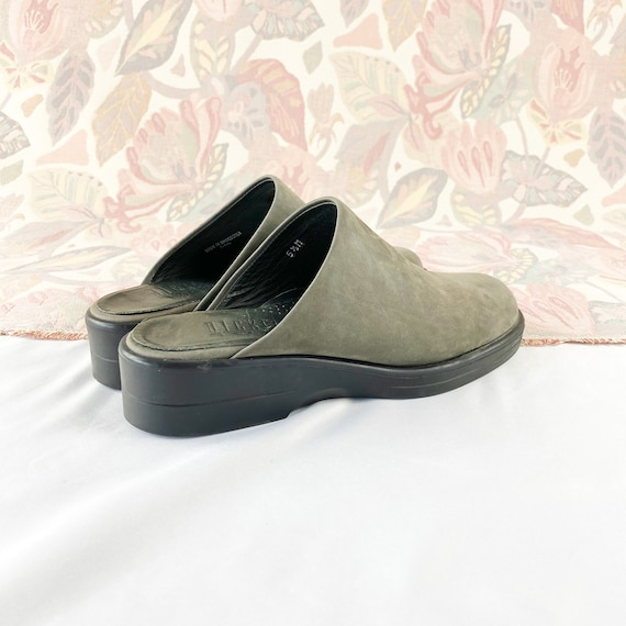 90's Gray Suede Mules Flats / Size 5.5 - image 5