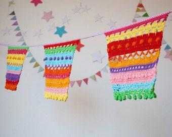Patroon kleurrijke vlaggenlijn