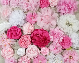 Sew On Flowers Small Fabric Flowers Dress Embellishment Baby Pink Flowers Pink Fabric Flowers Dress Flower Variety Artificial Flowers