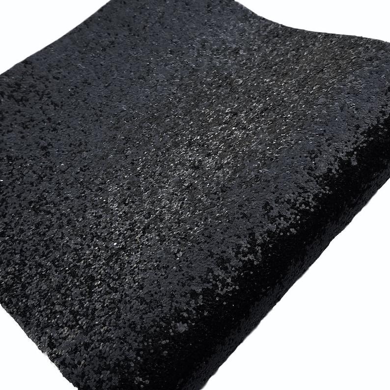 DIY craft material Chunky Glitter sheets Black Glitter sheet Glitter Faux leather