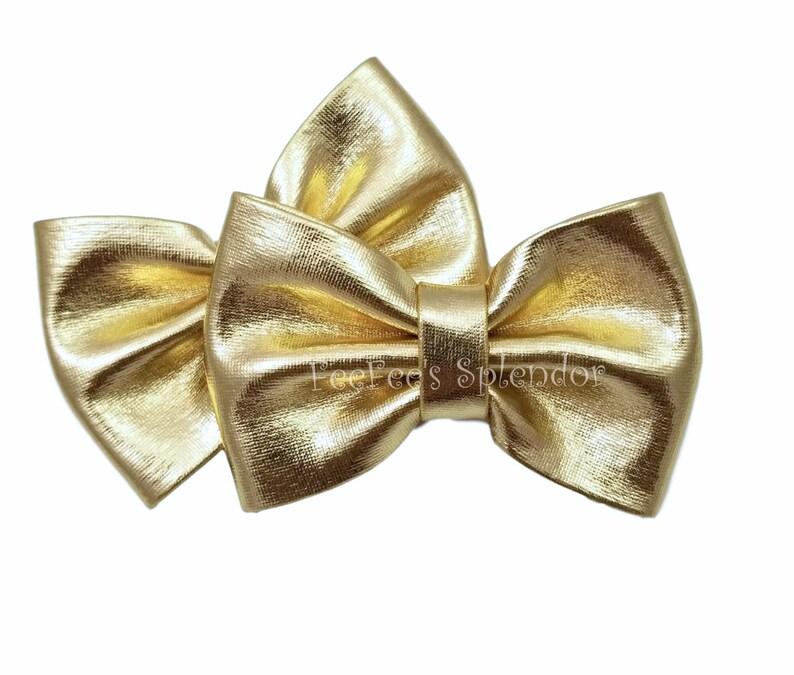 "DIY headbands /& hair bows Light pink 3/"" metallic fabric bow tie"