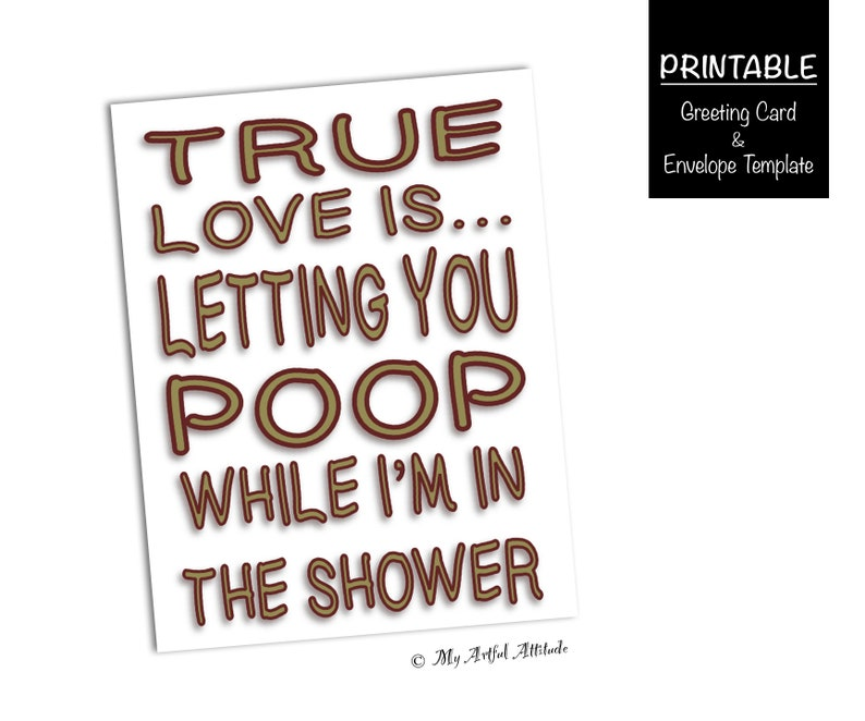 graphic about Inappropriate Birthday Cards Printable identified as Amusing Boyfriend Valentines PRINTABLE Card, Poor Birthday Card, Witty Legitimate Delight in, Foolish Poop, Sarcastic Anniversary Card For Him