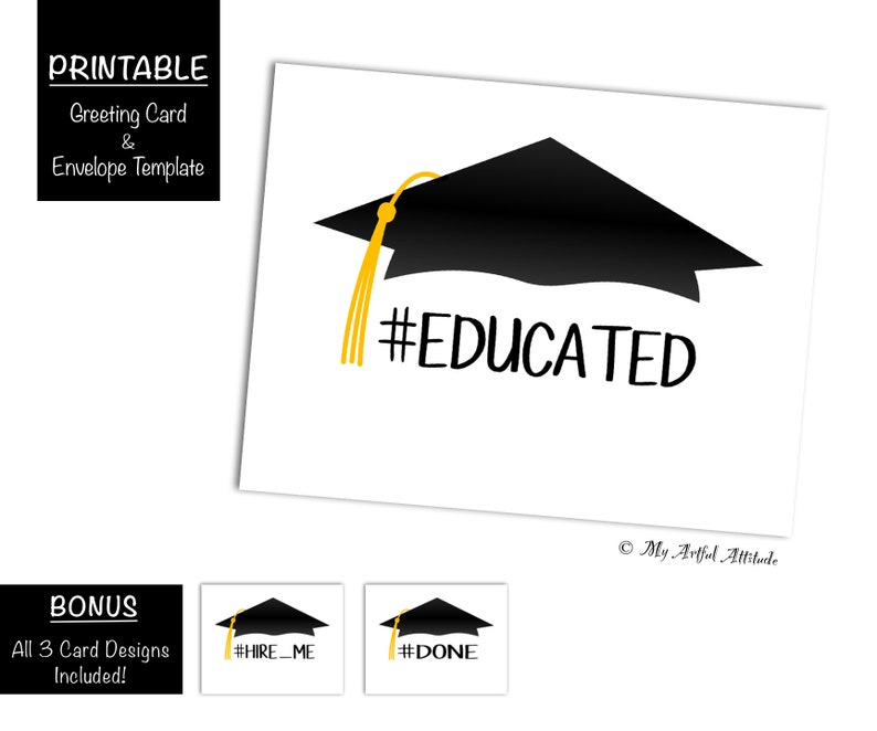 photograph about Graduation Card Printable named Commencement Card PRINTABLE Electronic, Amusing, Hashtag Well-informed Carried out Use Me, Sarcastic Congratulations, Congrats Grad, Accomplished College, Down load