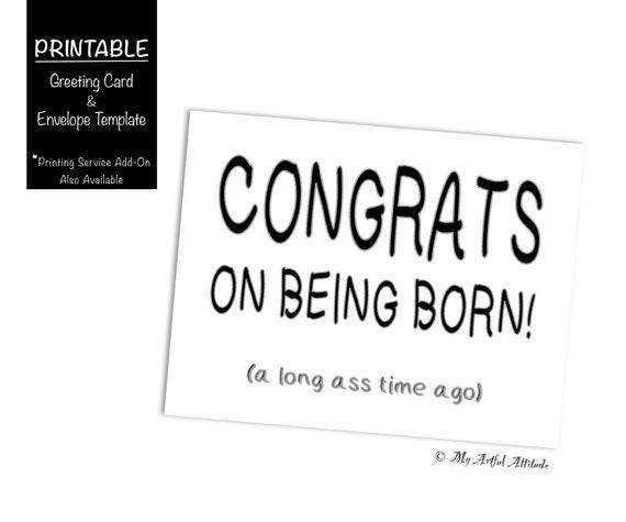 Funny Birthday Printable Card Best Friend Girlfriend Boyfriend