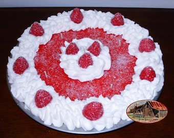 10 Strawberry Delight Whip Cream Pie Candle With Sugar Sprinkles