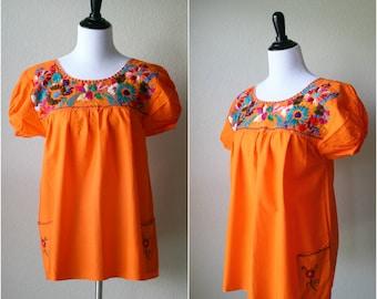 Vintage Mexican Oaxacan Blouse / Medium / Large