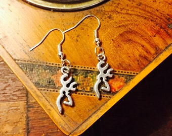 Silver Buck Earrings