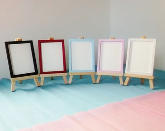 ACEO Open Frame and Tripod 3.5 X 2.5 Aperture 6mm sides  Multiple Colours in Stock