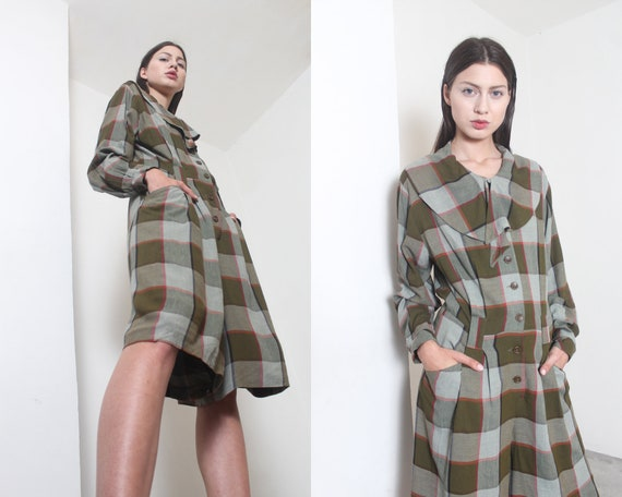 80s olive paid playsuit
