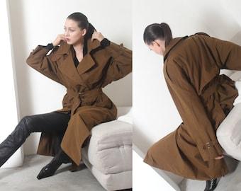 cedar brown soviet trench coat m l