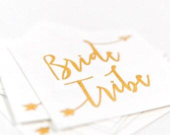 Bride Tribe Temporary Bachelorette Party Favor | Bachelorette Tattoo | Gold tattoo | Bridal Party| Box #3| Hen Party