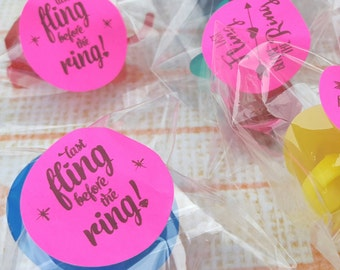ring pop party favors engagement party popped the question bridal shower party favor bachelorette party wedding favors engagement