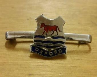 Vintage Enamelled Oxford Bar Badge