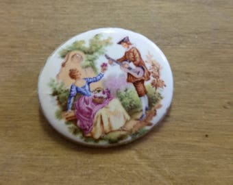 Vintage Porcelain Brooch