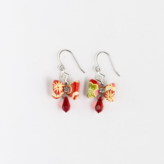 Asian Gift Under 30 Wedding Bridesmaid Daily Party Special Event EA51 FREE SHIPPING Red Round Lantern Earrings