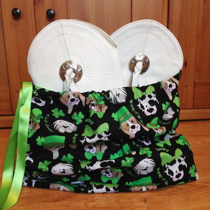 Lucky dog shamrock dance drill team bootshoe bag