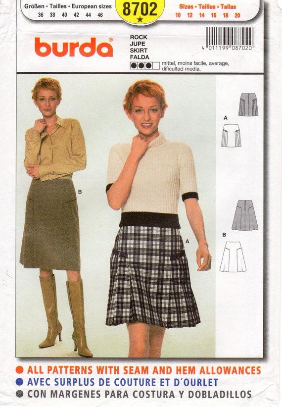 Burda-6903 Burda Ladies Easy Sewing Pattern 6903 Gored Summer Skirts