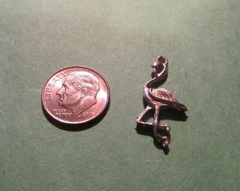 Dozen Pewter Flamingo  Charms