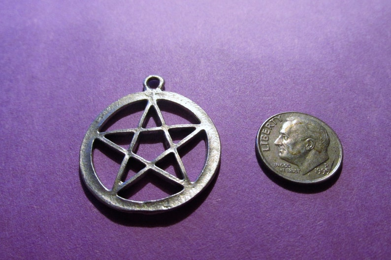 Dozen Pewter Wiccan Pentacle Pendants
