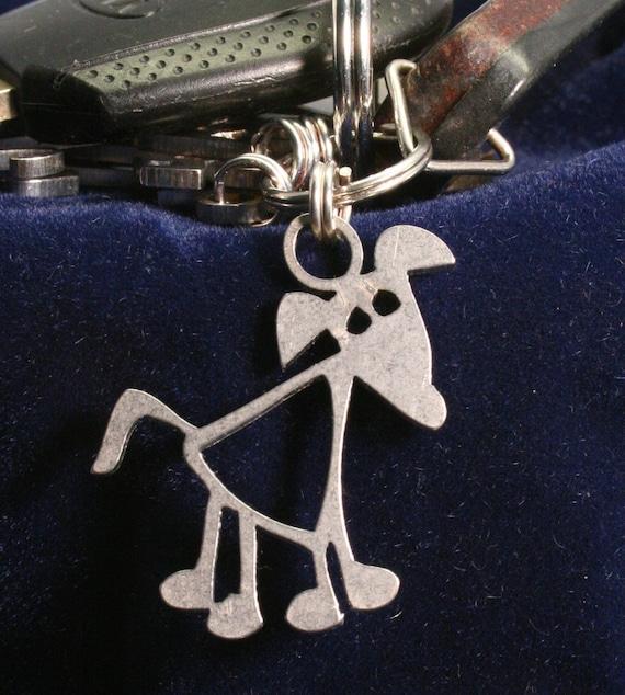 Fat Dog Key Chain Charm