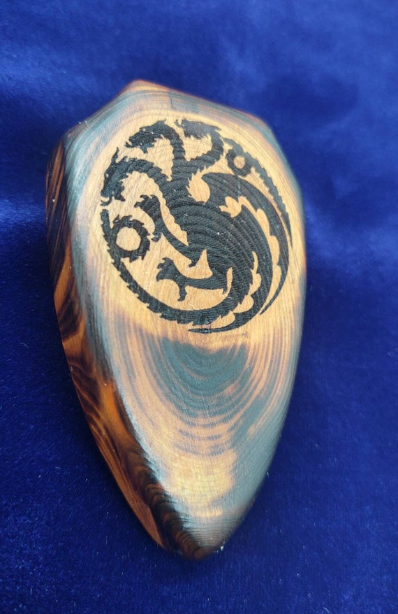 Miniature Wood Shield - House Targaryen