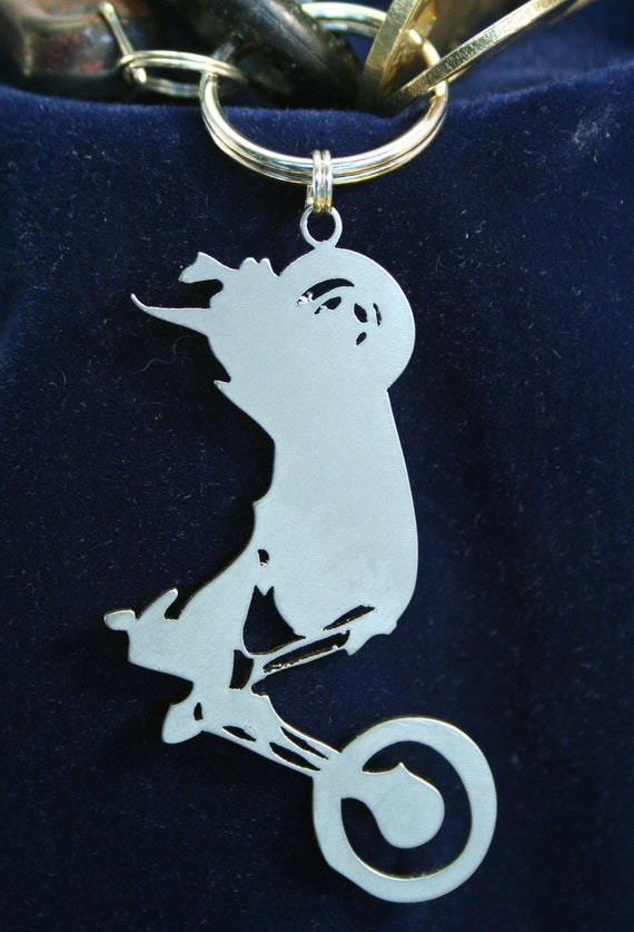 Stainless Steel Chopper Keychain Charm IV