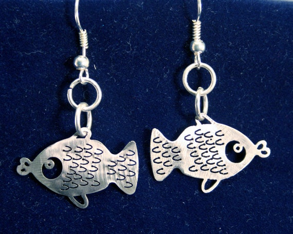 Little Fishies Stainless Steel dangly Earrings