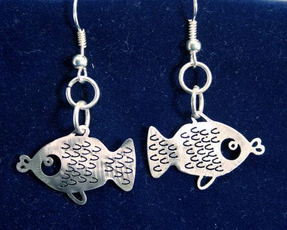 Little Fishies Stainless Steel dangly Earrings