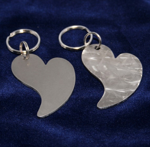 14 Gauge Stylized Heart Charm Heavy Duty Stainless Steel Keychain Charm