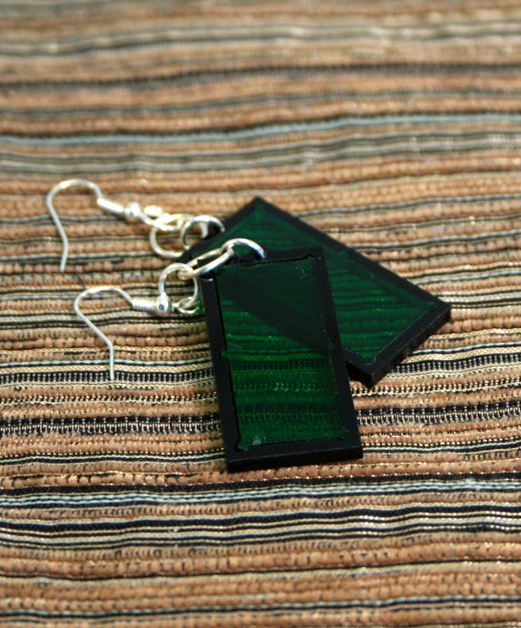 Acrylic Pool Table Earrings