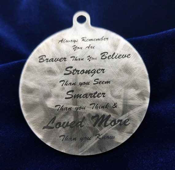"Custom Quote or personalized text 2"" Medallion - One sided Laser Marked Text"