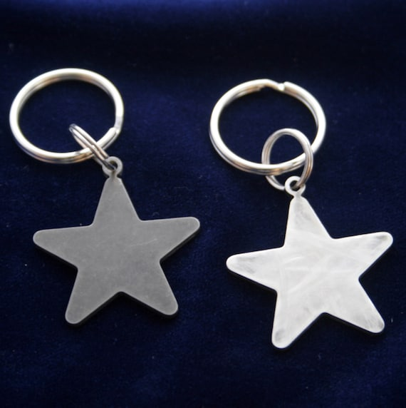 Small Stainless Steel Star Keychain