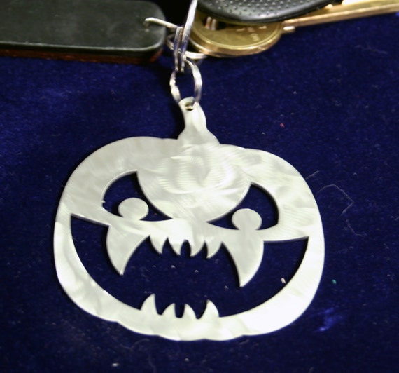 Scary Squash Jack-O-Lantern Stainless steel Pumpkin Halloween Ornament