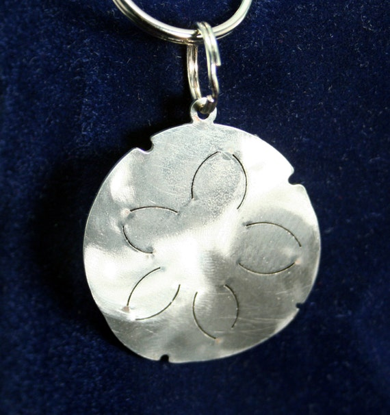 Little Sand Dollar Tide Pool Sea Creature Stainless Steel Keychain Charm