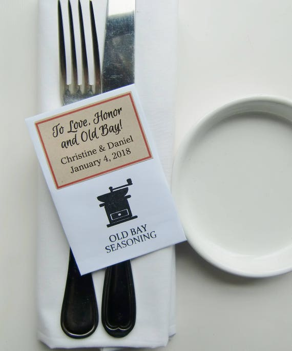 Maryland Wedding Favors Old Bay Favors Love Honor Old Bay Diy Wedding Favors For Guests Seasoning Packets Unique Wedding Favor Wedding Ideas
