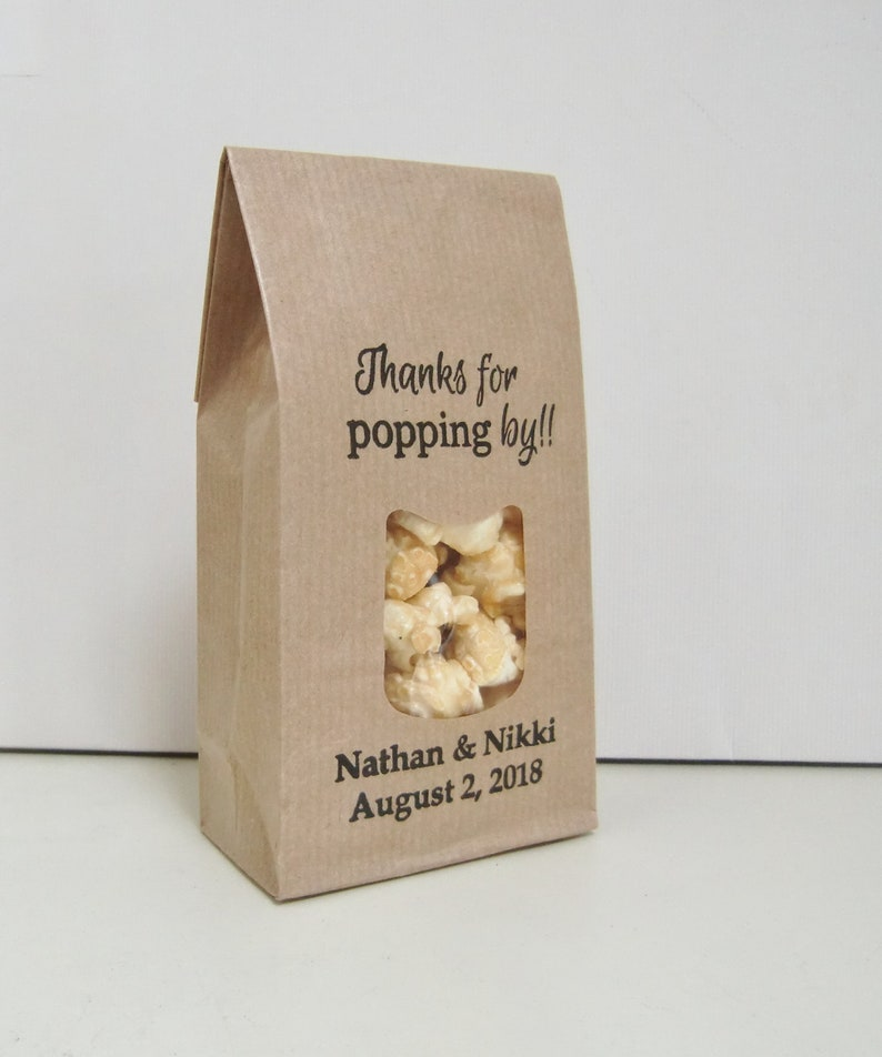 Wedding Favors Popcorn Favor Bags Wedding Favor Ideas Thanks Etsy