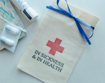 50-Wedding Favor Bags-Bags with Red Cross-Wedding Favor Ideas-In Sickness and in Health-diy Wedding Favors-Favor Bags-Wedding Decor-Wedding