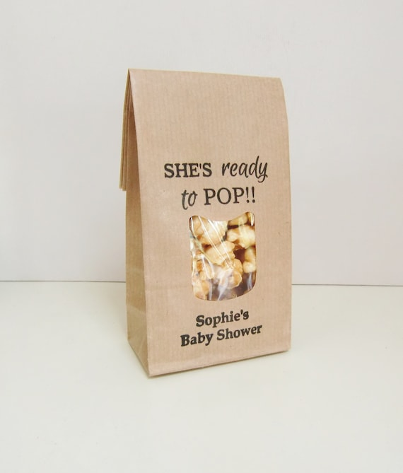 Unique Baby Shower Favors Popcorn Favours Personalized Rustic Etsy