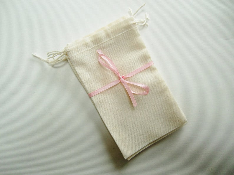 DIY Favor Bags for Crafts-Cotton Favor Bags-5 x 3-Double Drawstring-Wedding Favor Bags-Bridal Shower Bags-Hen Party Bags-Party Favor Bags