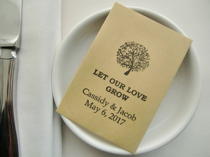 Rustic Chic Wedding Seed Packets Wedding Favors Let Our Love Grow Etsy