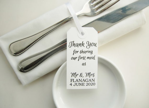 Thank you for sharing our first meal as Mr Mr//Mrs Napkins 10 Dinner Napkins Thank you Napkins Personalized Wedding Cloth Napkins /& Mrs.