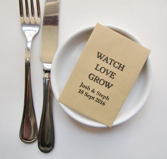 Rustic Wedding Seed Packets Wedding Favors Wedding Favor Etsy