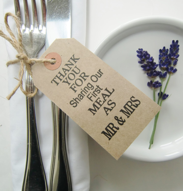 Rustic Wedding Napkin Ties-Wedding Table Decor-THANKYOU ... - photo#31