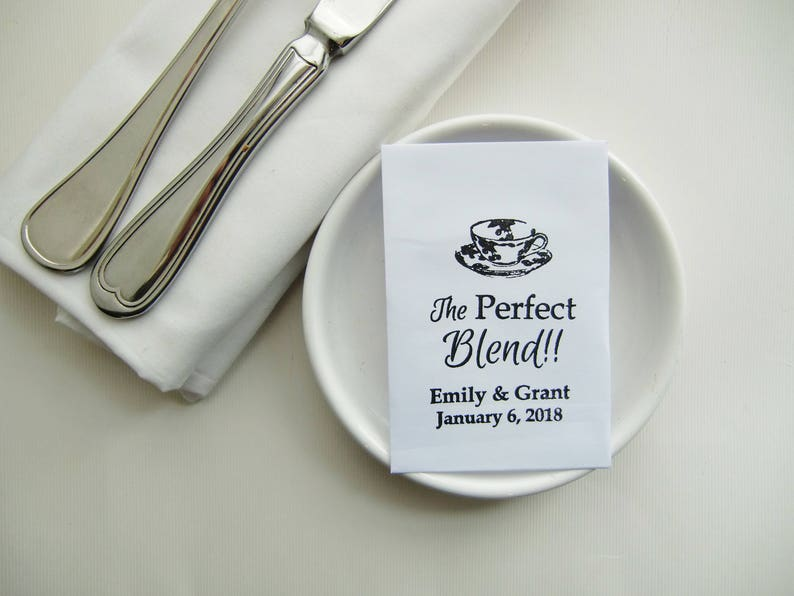 The Perfect Blend Tea Party Favors Gifts For Guests Wedding Favor Ideas Personalized Tea Packets Diy Hen Party Favours Bridal Shower Favors