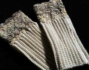 Lacy-edged Boot Cuffs or Leg Warmers