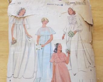 1960s/70s Butterick pattern #5939, wedding dress, bridesmaid dress, size 10