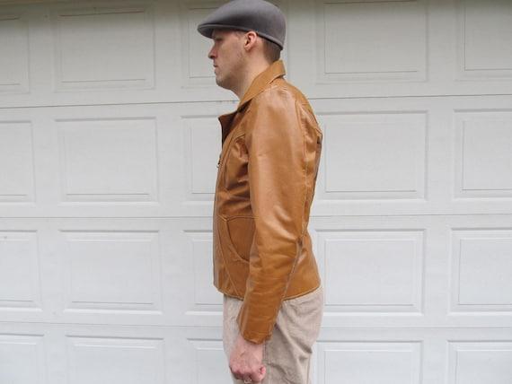5bcc452ba41 1970s Men s Vintage leather jacket caramel leather