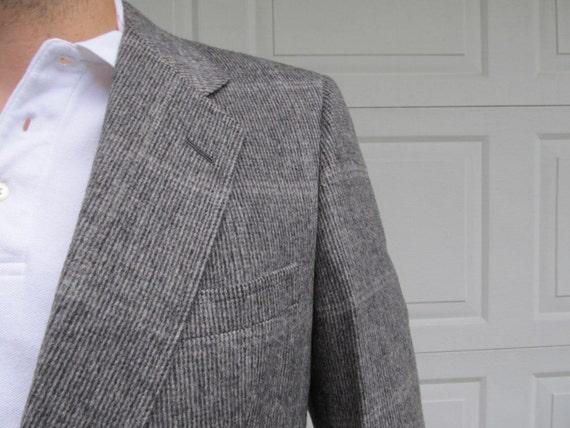 1970s Men's Gray Camel Hair blazer, sportcoat
